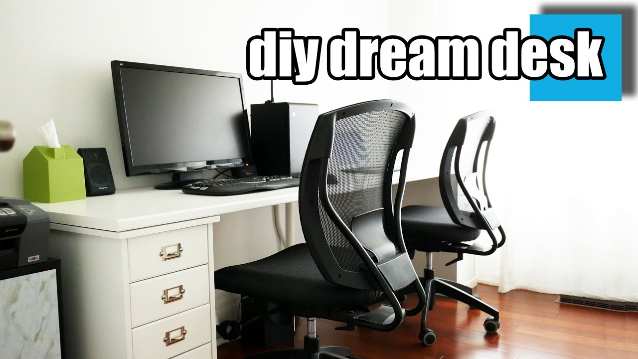Charmant DIY Dream Desk Setup   A Stylish Desk For Two