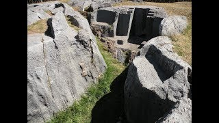Ancient Pre-Inca Megalithic Site Of Little Qenqo Near Cusco Peru