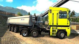 Euro Truck Simulator 2 - Renault Magnum Dump Trailer Pick Up