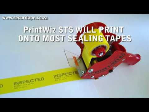 """PRINT n SEAL"" with PrintWiz Security Tape System"