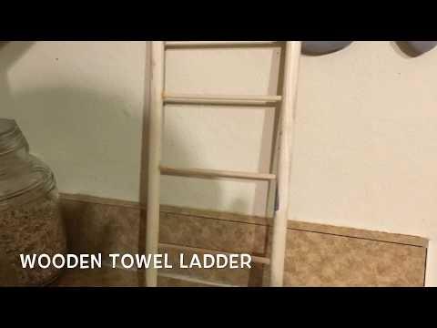 How to make a wooden towel ladder l Crafts l diy l farmhouse