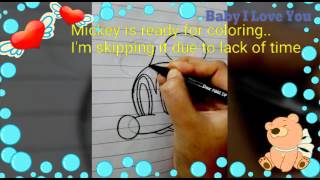Drawing Mickey mouse (3 styles) for kids