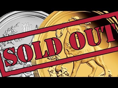 2018 Lunar Dog Gold & Silver Bullion Coins SELL OUT in 2017