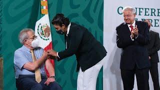 Epidemia de COVID-19 está controlada y vacunación progresa. Conferencia presidente AMLO