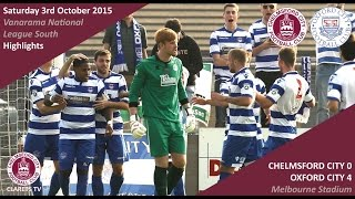 Chelmsford City 0 vs 4 Oxford City - Highlights