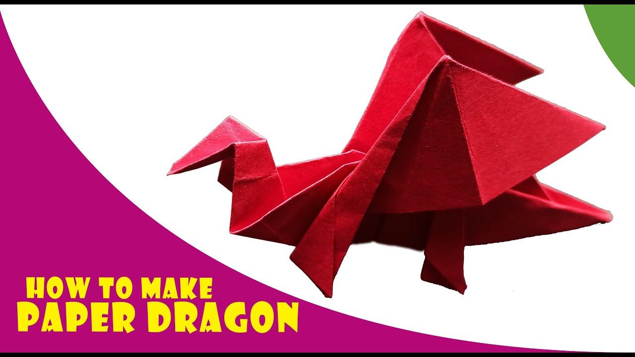 How to make an Origami Darkness Dragon 2.0 (Tadashi Mori) - YouTube | 720x1280