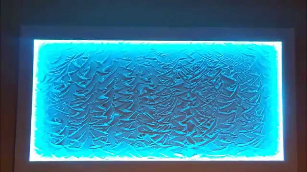Led Wall Art 5050 rgb led plaster wall art - youtube