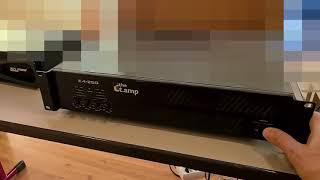 Verstärker t amp E4-250 vs Crown XLS 2002 - Lüftergeräusch Vergleich - AMP Fan Noise Comparison