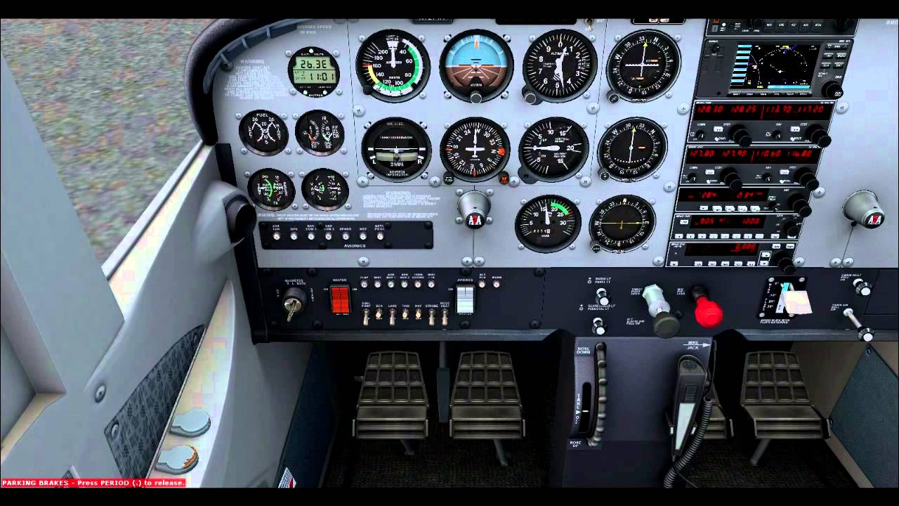A2A Simulations Cessna 172R Run up Tutorial YouTube