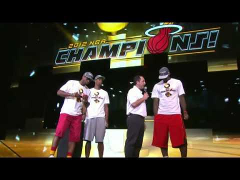Miami Heat's Big Three Chris Bosh, Dwyane Wade and LeBron James thank all the Heat fans!