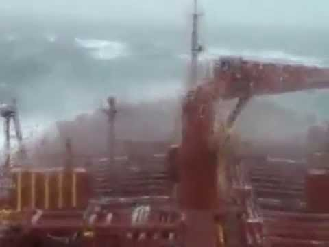 The Middle Of  Atlantic Ocean  - Heavy Seas - Heavy rolling & Pitching