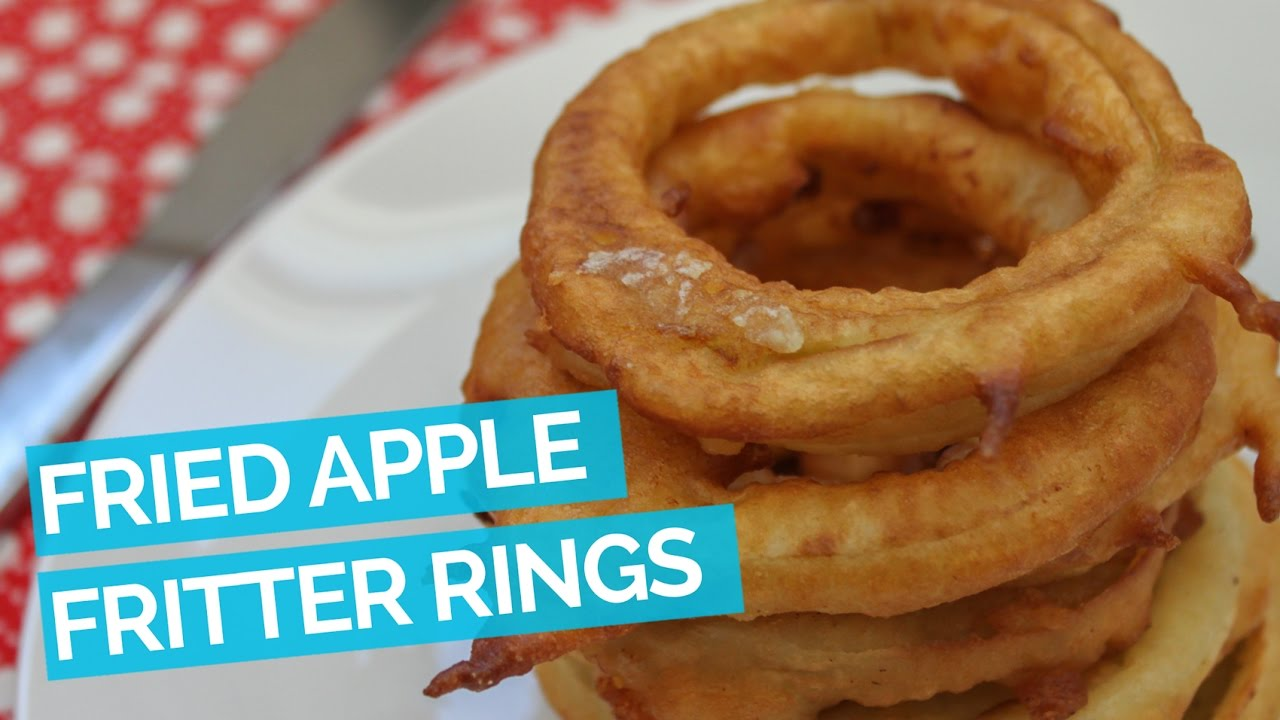 Fried Apple Fritter Rings - YouTube