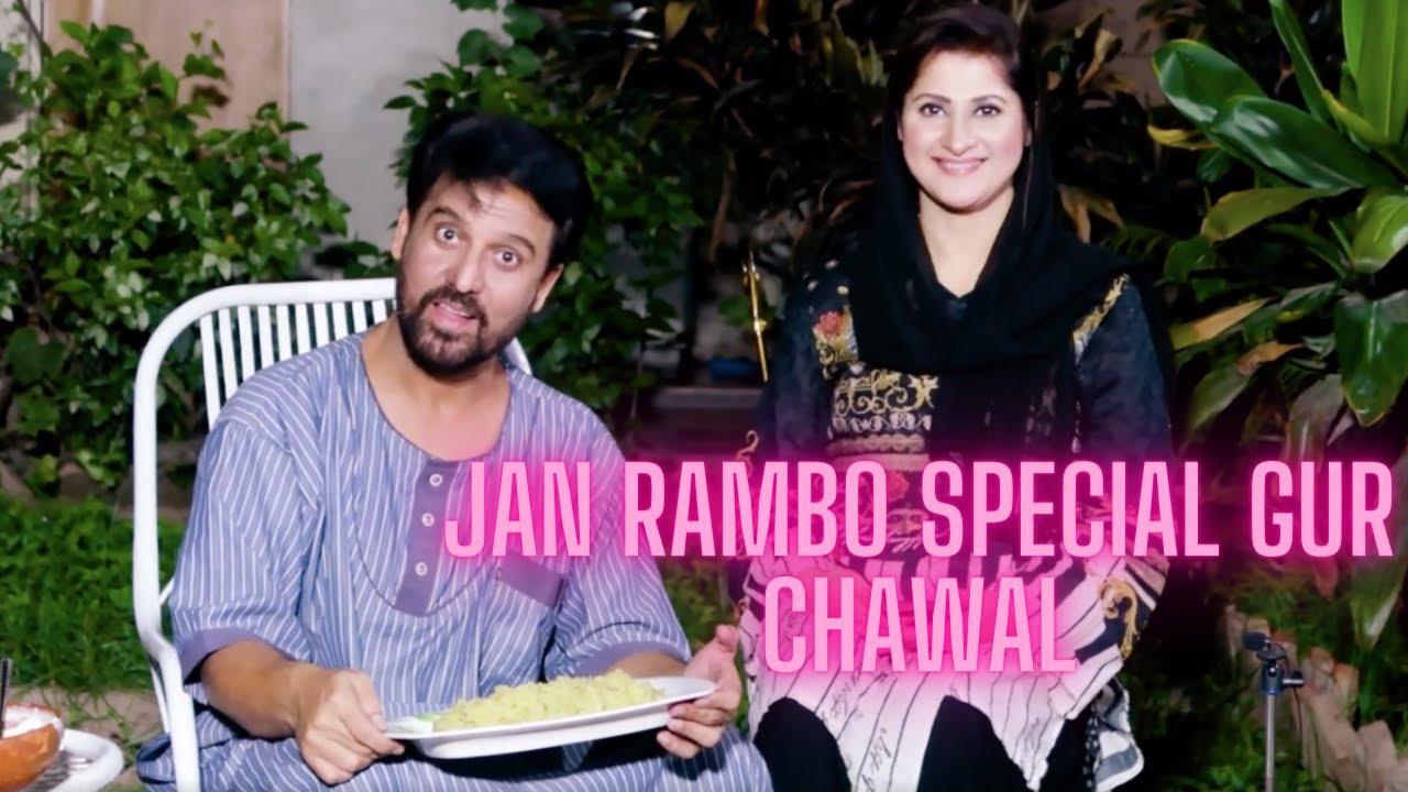 Jan Rambo Cooking Special Gurrh Walay Chawal   Jan Rambo   Meethay Chawal