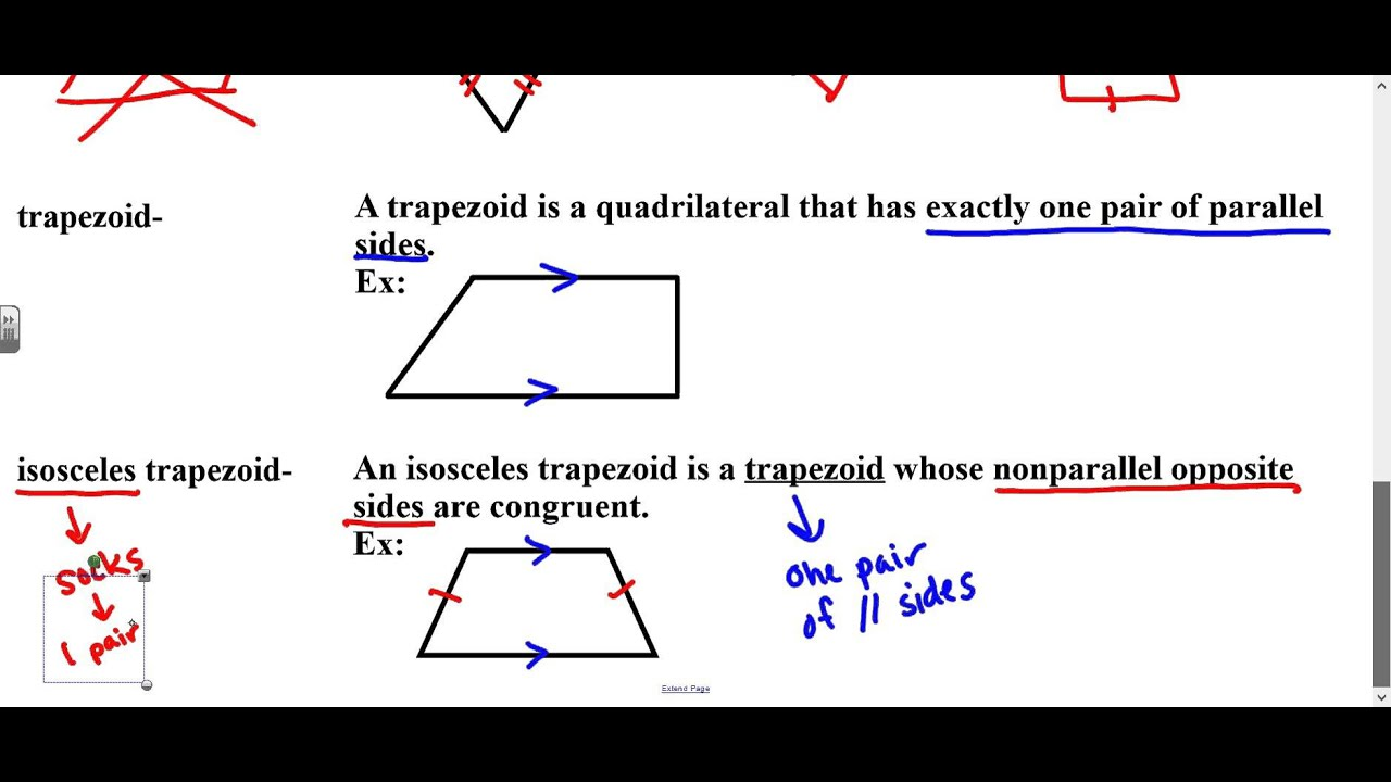 Geometry Lesson 6 1 Classifying Quadrilaterals