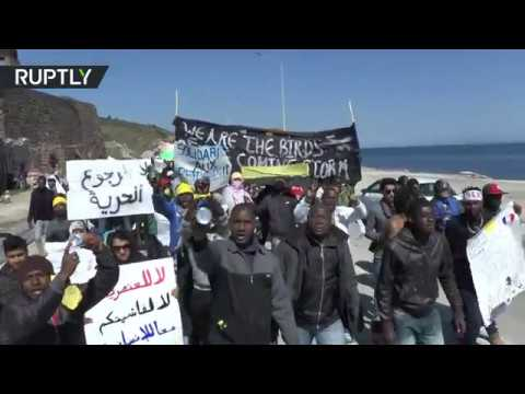 Lesbos refugees march against persecution, EU-Turkey refugee deal