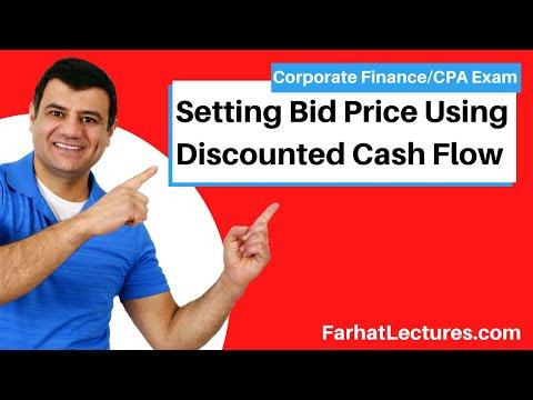 Setting Bid Price Using Discounted Cash Flow  Corporate Finance   CPA Exam BEC   CMA Exam   Chp10 p7