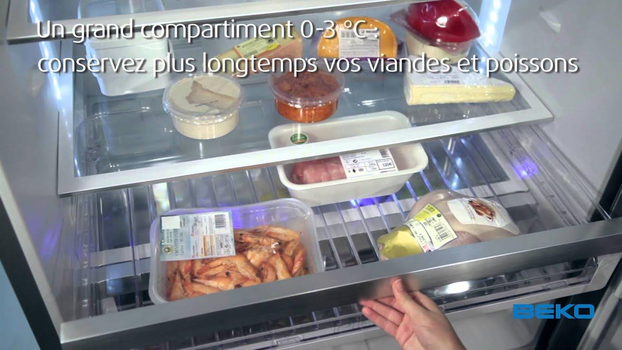 Réfrigérateur Double Porte DN161220DX   Beko   YouTube