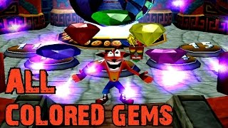 Crash Bandicoot 3 Warped - How to get ALL colored Gems