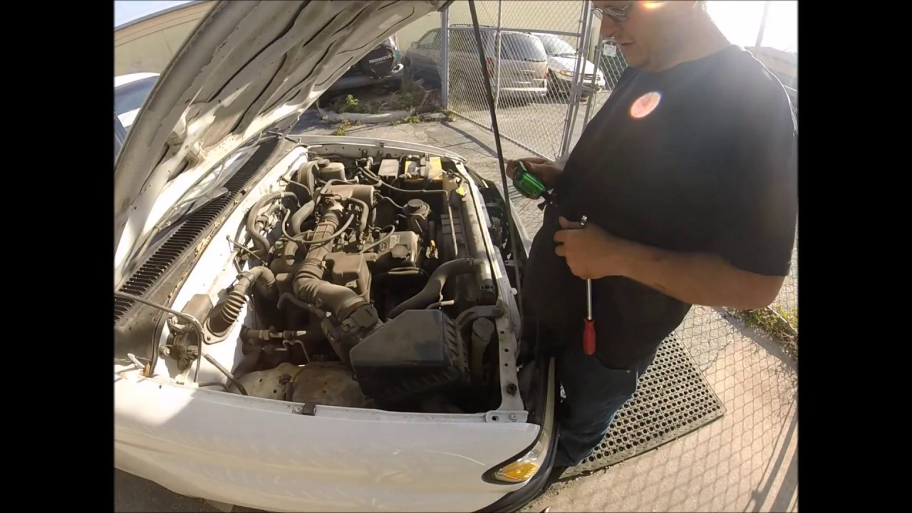 Toyota Ac Belt Replacement Youtube Tensioner For 2005 Corolla