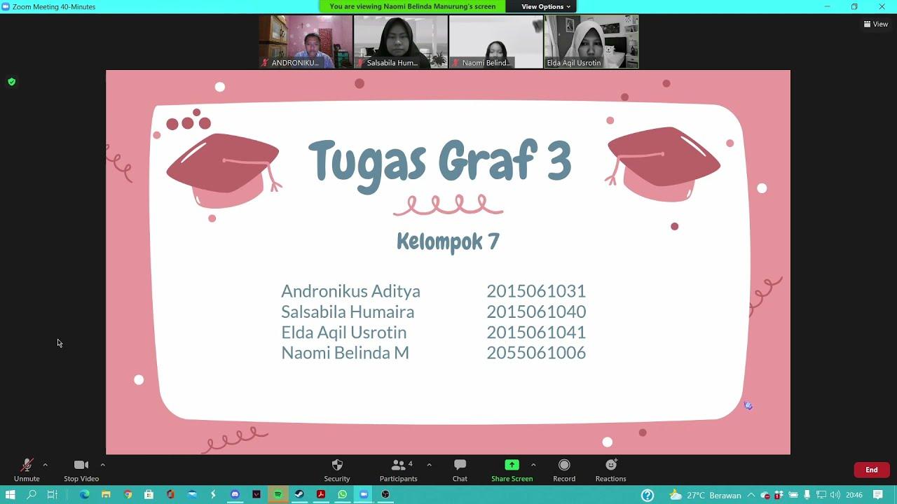 Presentasi Graf 3 Kelompok 7 Matematika Diskrit Youtube