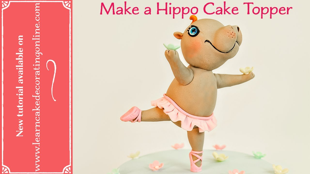 How To Make A Dancing Hippopotamous Cake Topper