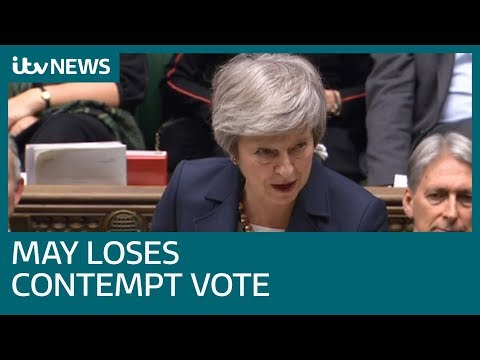 Brexit legal advice to be published after May loses contempt vote | ITV News