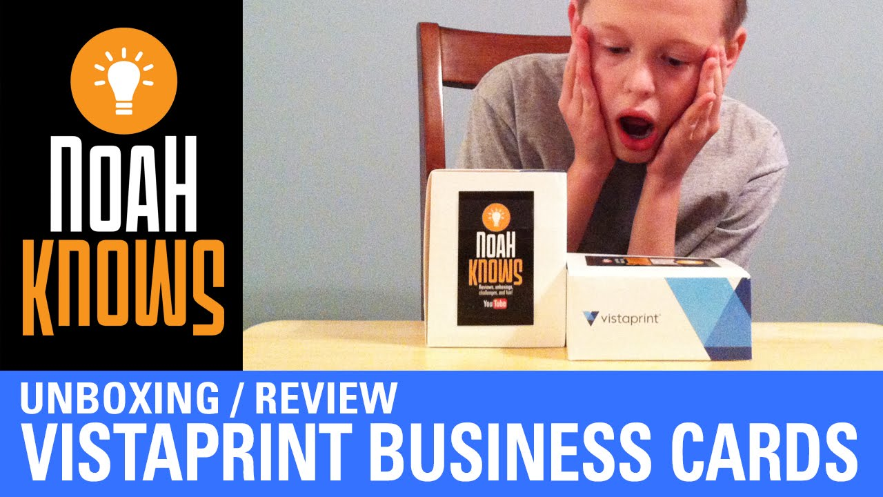 Unboxing and Review of Vistaprint Business Cards - YouTube