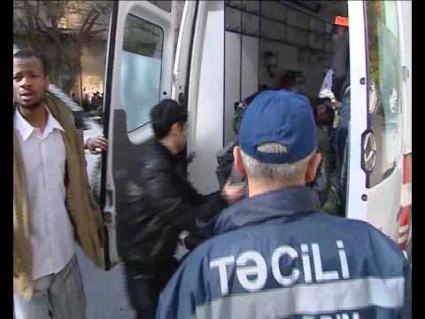 Shooting at Azerbaijan Oil Academy TERROR (Xezer TV)