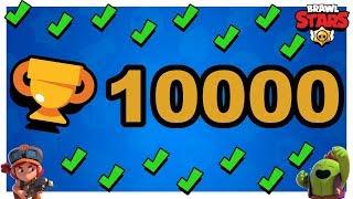 WBIŁEM 10.000 PUCHARKÓW W 80 GODZIN! BRAWL STARS POLSKA