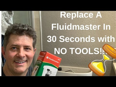 Fluidmaster Toilet Fill Valve-Done in 30 Seconds with NO TOOLS!!!