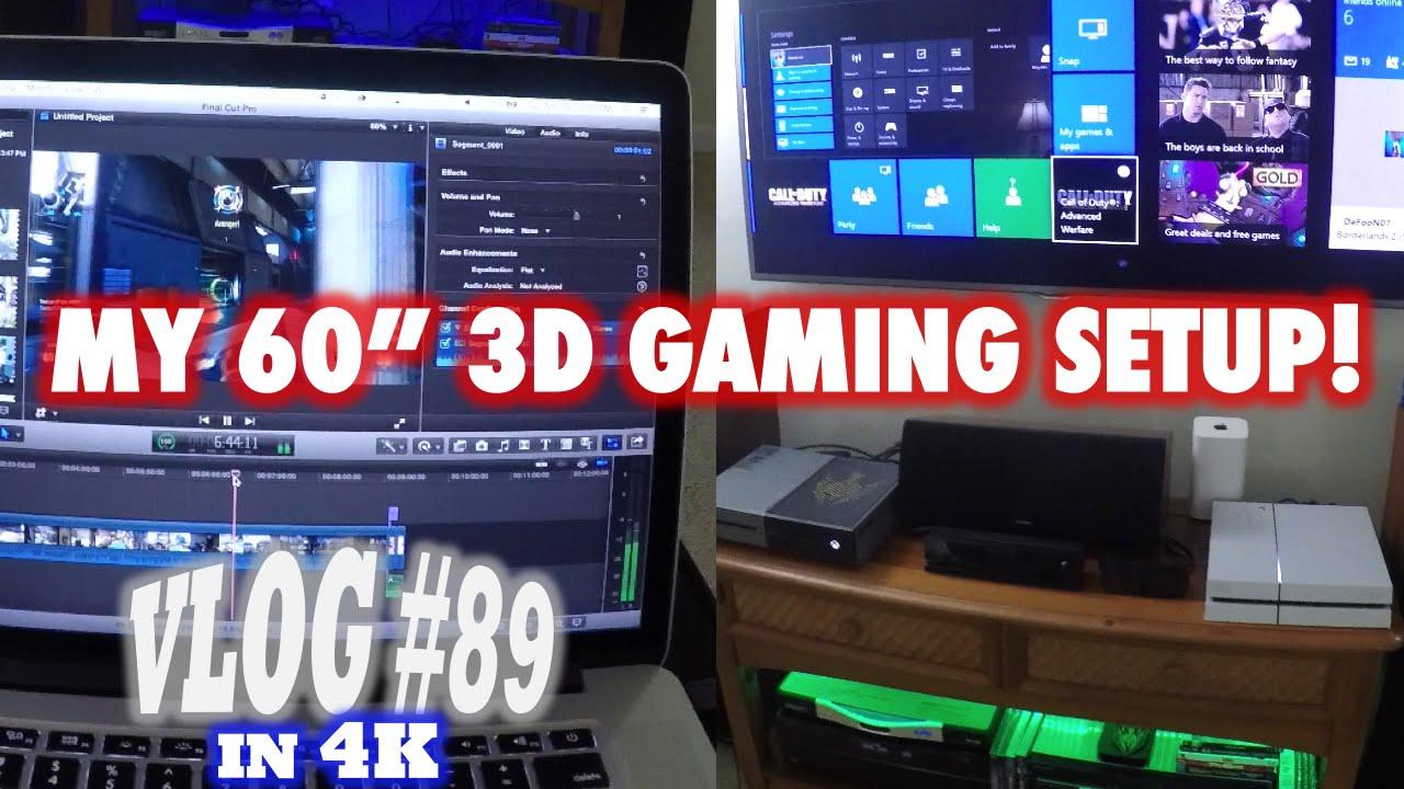 My Gaming Setup Xbox One Amp Ps4 Desk Setup In 4k How I