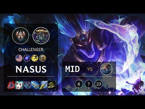Nasus Mid vs Yasuo - NA Challenger Patch 10.11
