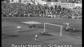 WM Halbfinale 1958 Deutschland-Schweden 1:3; Semi-final Germany - Sweden