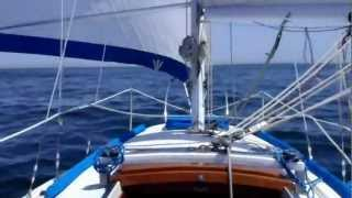 Sailing Wing On Wing Sat. April 7th 2012.  Ericson 27