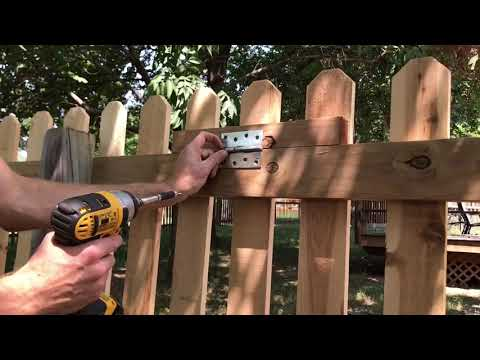 DIY Wood Fence Trap Door for - $10