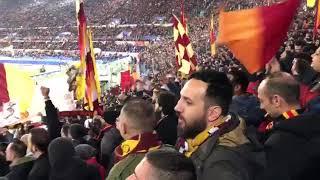 Tifo da far paura!    Roma - Shakhtar Donetsk    Voglio solo star con te   