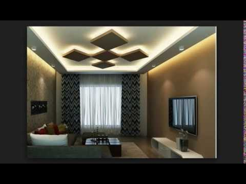 Latest stunning unique false ceiling designs for living for Latest living hall design
