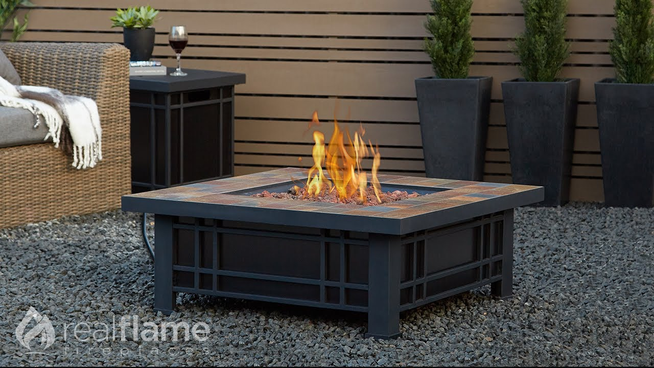 Real Flame   Morrison LP Fire Table