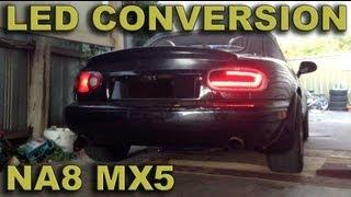 Miata Mx5 Tail Rear Light Led Conversion Test (teaser)