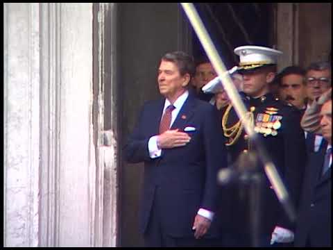 Arrival Ceremony for President Reagan in Venice, Italy on June 8, 1987