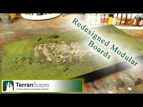 TerranScapes - New Modular Boards Pt. 1 - wargame terrain