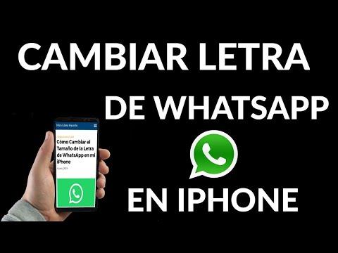 Cómo Cambiar el Tamaño de la Letra de WhatsApp en iPhone