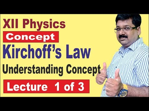 NCERT XII Physics | Kirchoff's Law | Kirchoff's Law for Class 12 |