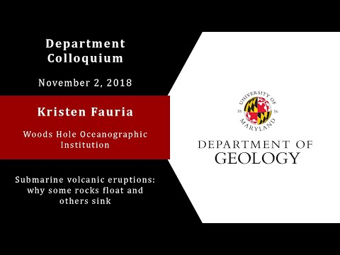 Kristen Fauria from Woods Hole Oceanographic Institution - 11/02/18