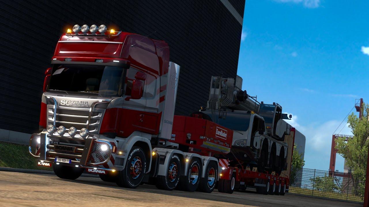 euro truck simulator 2 heavy cargo pack 8x4 youtube. Black Bedroom Furniture Sets. Home Design Ideas