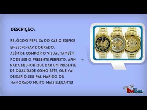 eb3f1a2da83 Descrição Casio Edifice Ef-550fg-9av   7av   1av Gold Edition - YouTube