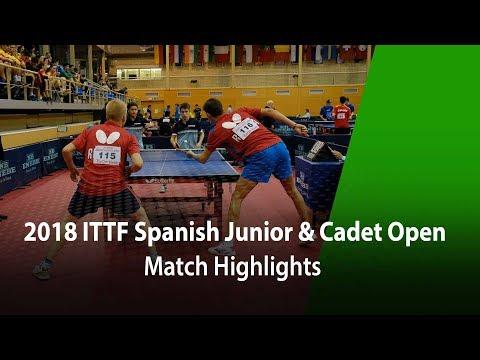 2018 Spanish Junior & Cadet Open Highlights | Meng Fangbo/Benno Oehme vs Maksin G./Lev K. (Final)