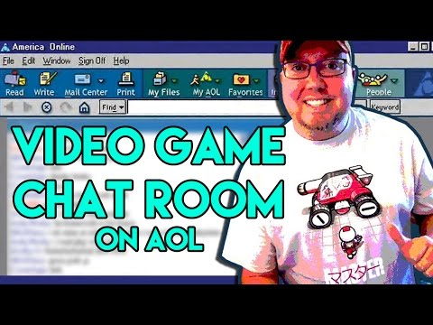 Remembering The AOL Video Game Chat Room - RiggsVlog