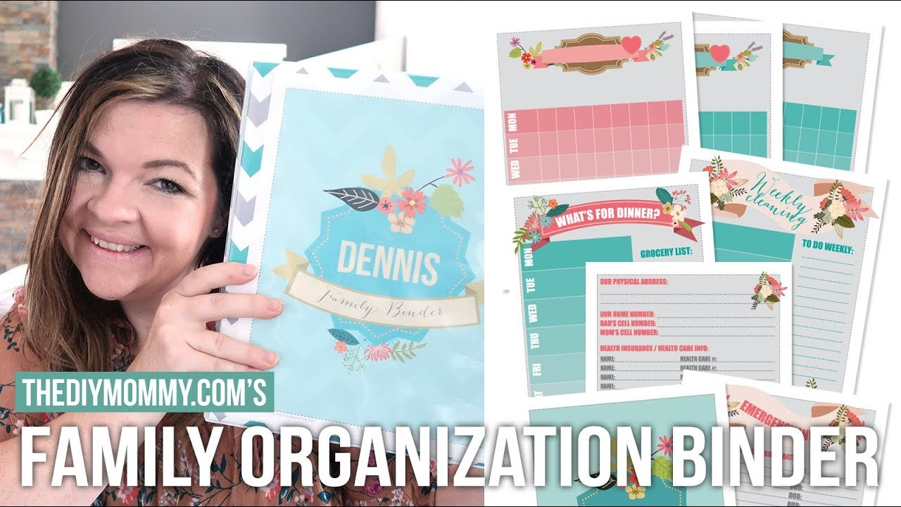 DIY Family Organization Binder with Free Printables | Vlogust Day 23 ...