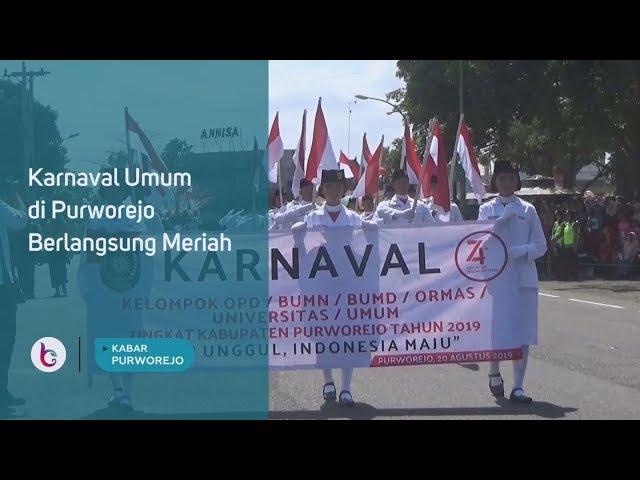Karnaval Umum di Purworejo Berlangsung Meriah